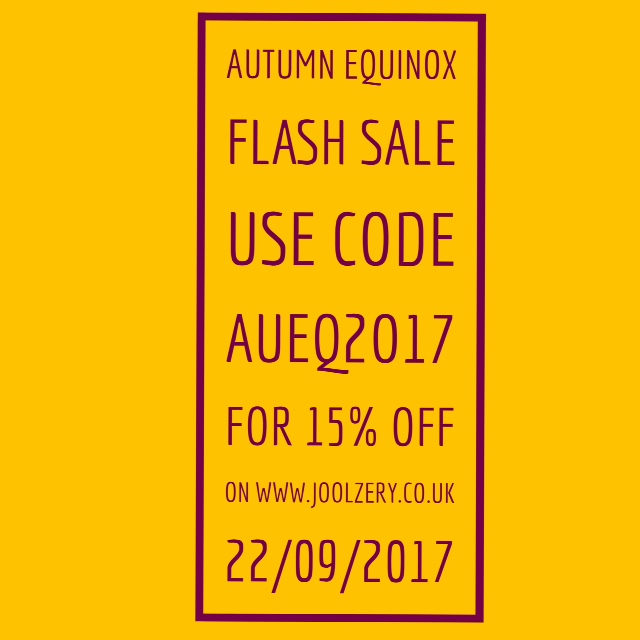 Joolzery Autumn Equinox Flash Sale Code