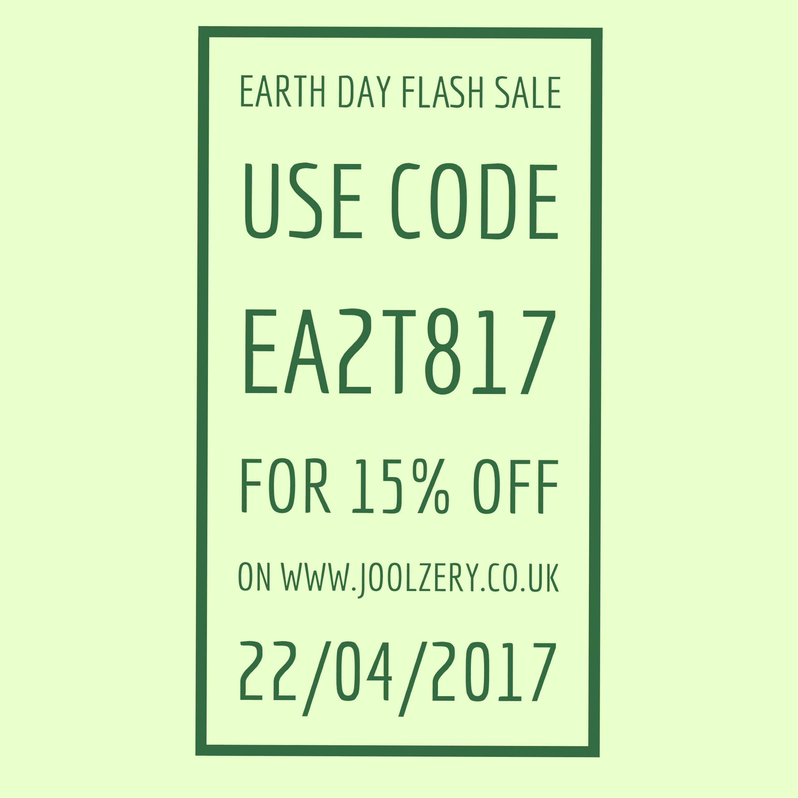 Joolzery Earth Day Flash Sales Code