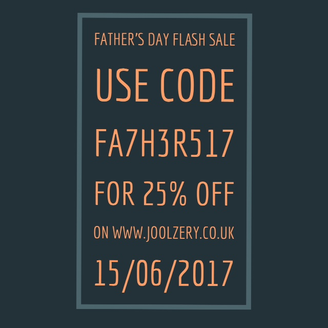 Joolzery Fathers Day Flash Sales Code