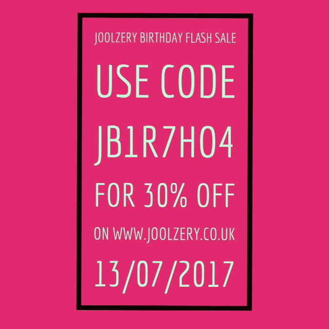Joolzery 4th Birthday Flash Sale Code