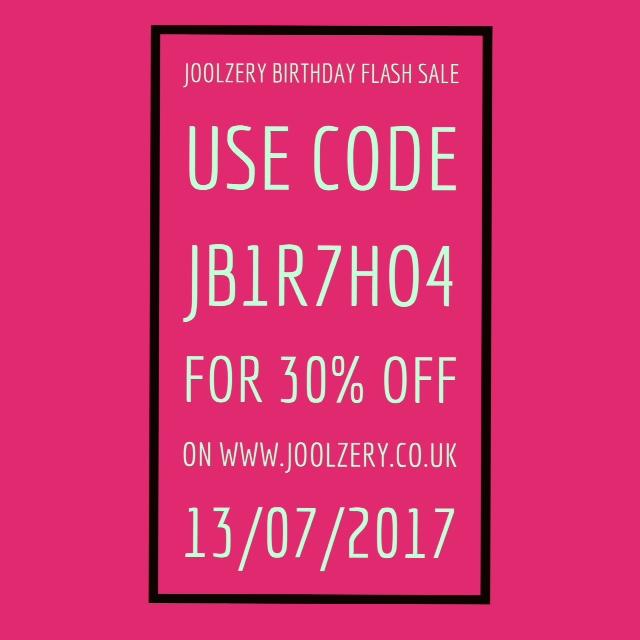 Joolzery 4th Birthday Flash Sale Code