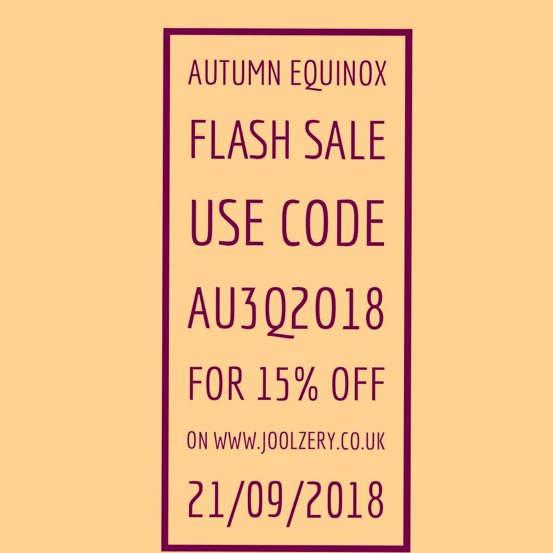 2018 Autumn Equinox Flash Sales Voucher code
