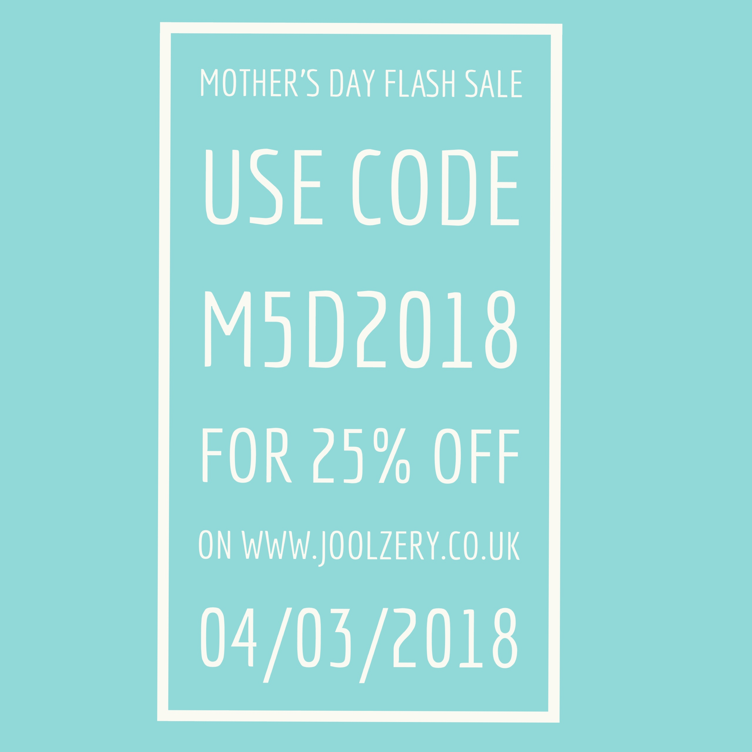 Joolzery Mothers Days Flash Sale Code
