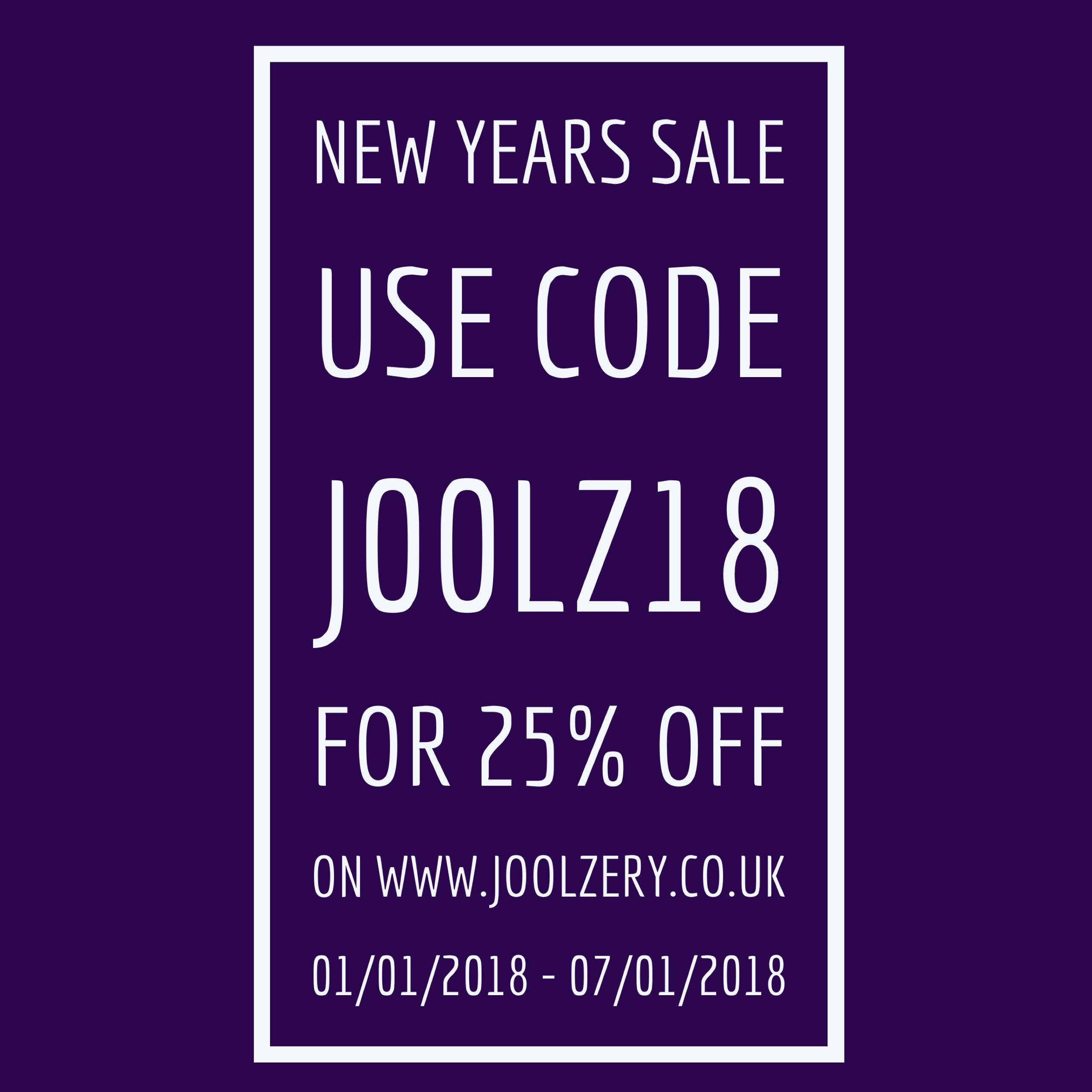 Joolzery January Sales Code