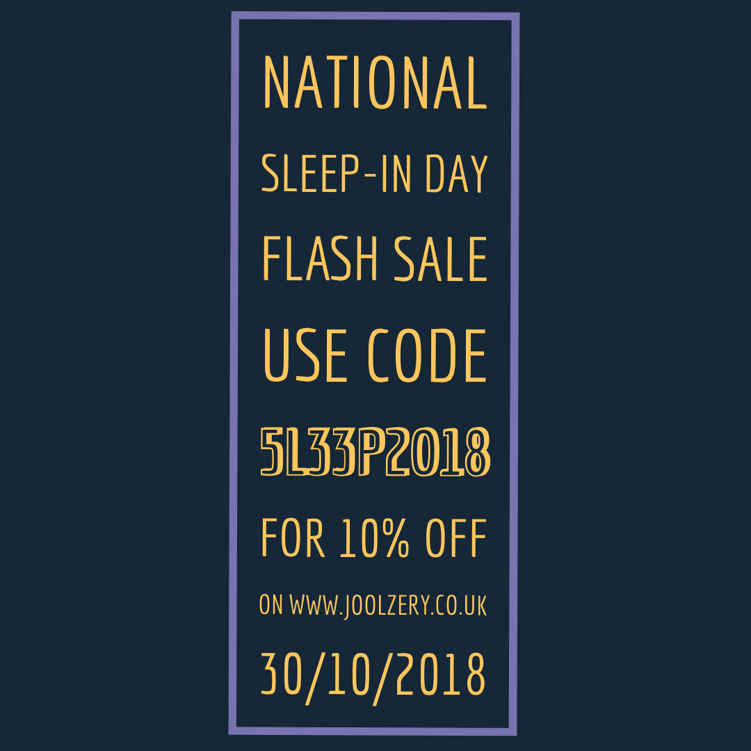 2018 Nationa Sleep In Day Flash Sales Voucher code