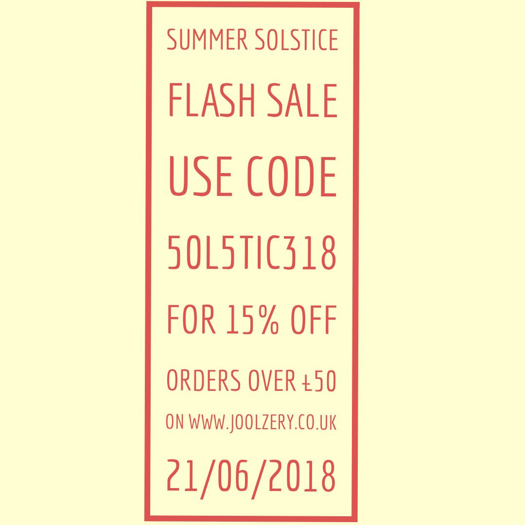 Summer Solstice Flash Sale 2018 Voucher code