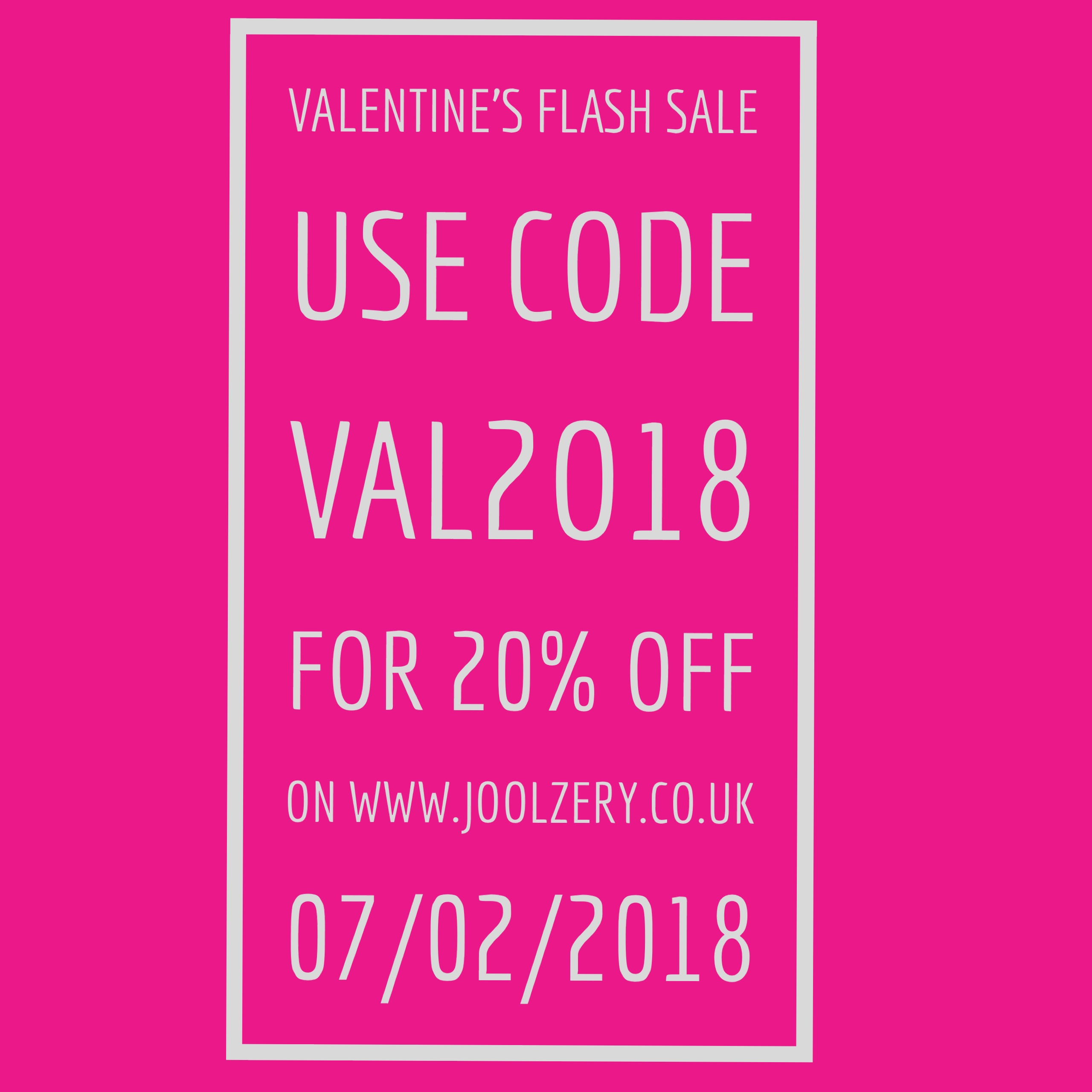 Joolzery Valentines Days Flash Sale Code