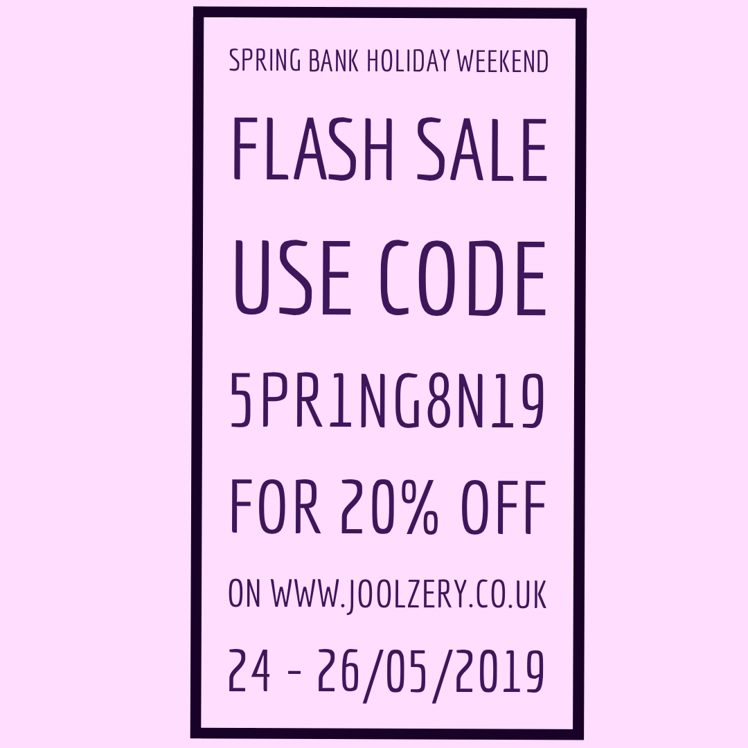 2019 Spring Bank Holiday Weekend Flash Sale Voucher code