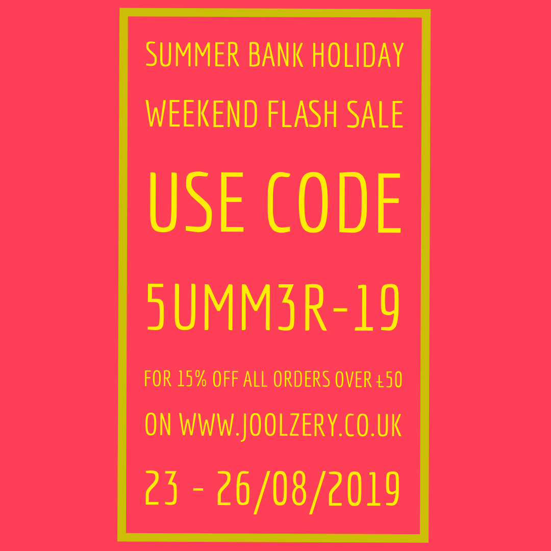 2019 Summer Bank Holiday Weekend Sale Voucher code