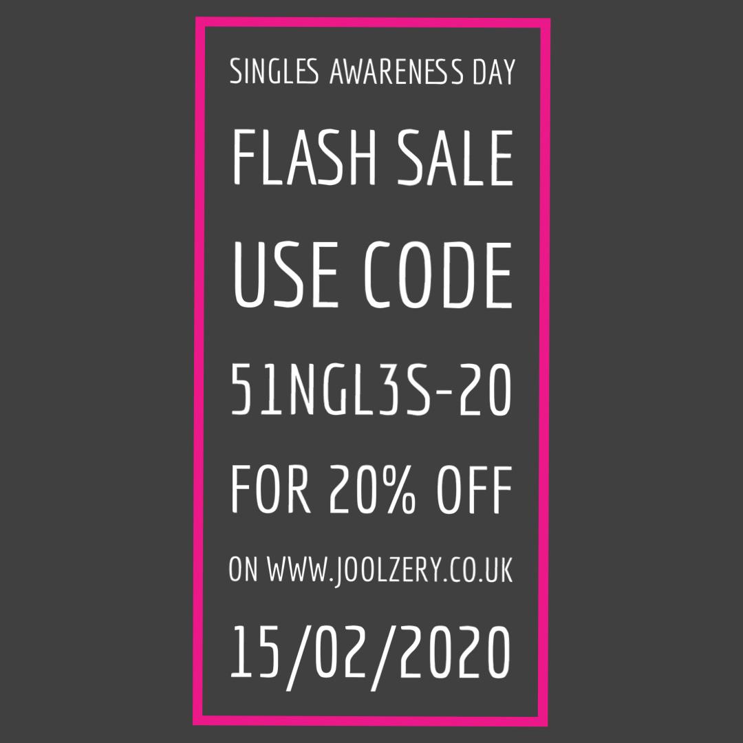 Joolzery February 2020 Sales Voucher international Singles Awareness Day