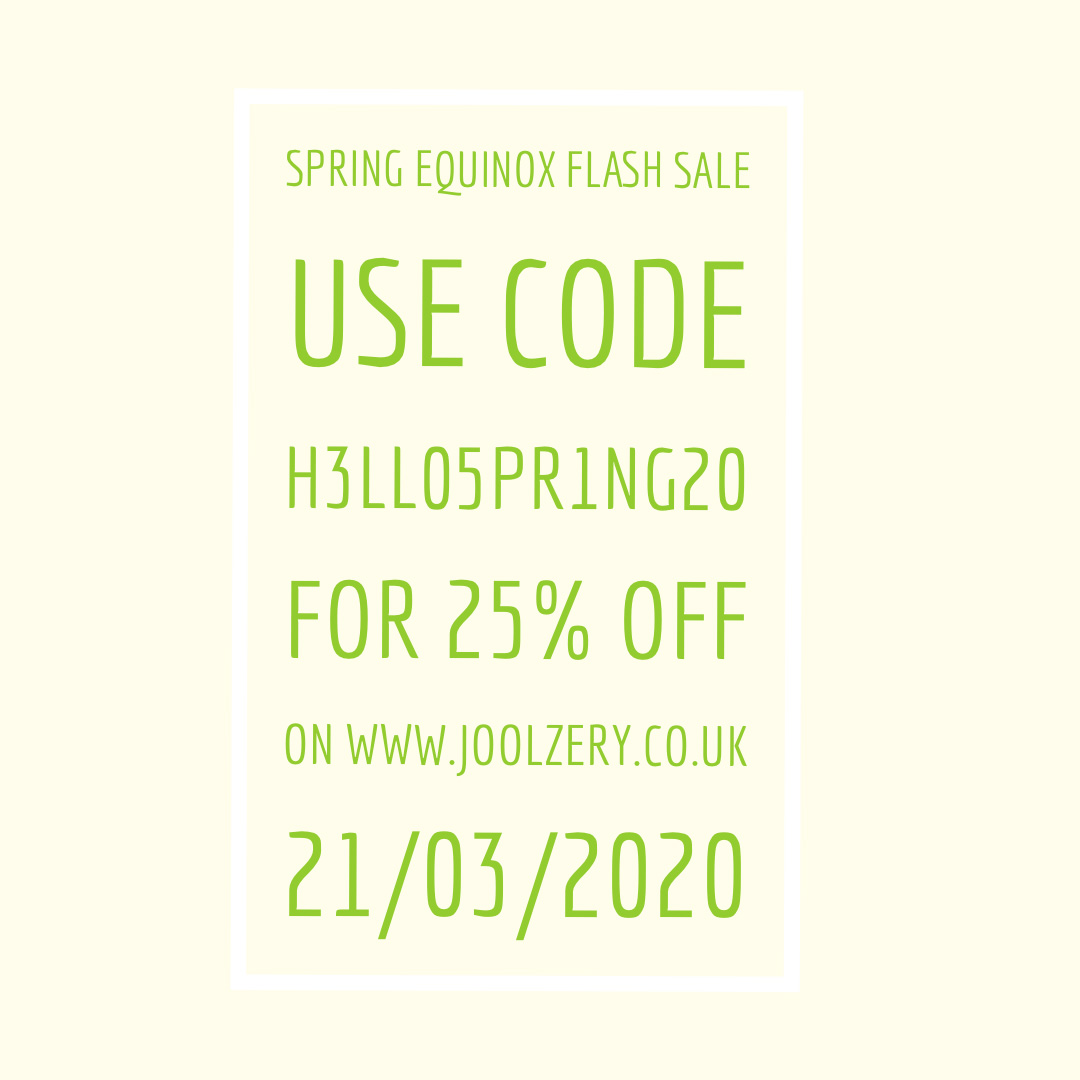 Joolzery March 2020 Sales Voucher Spring Equinox