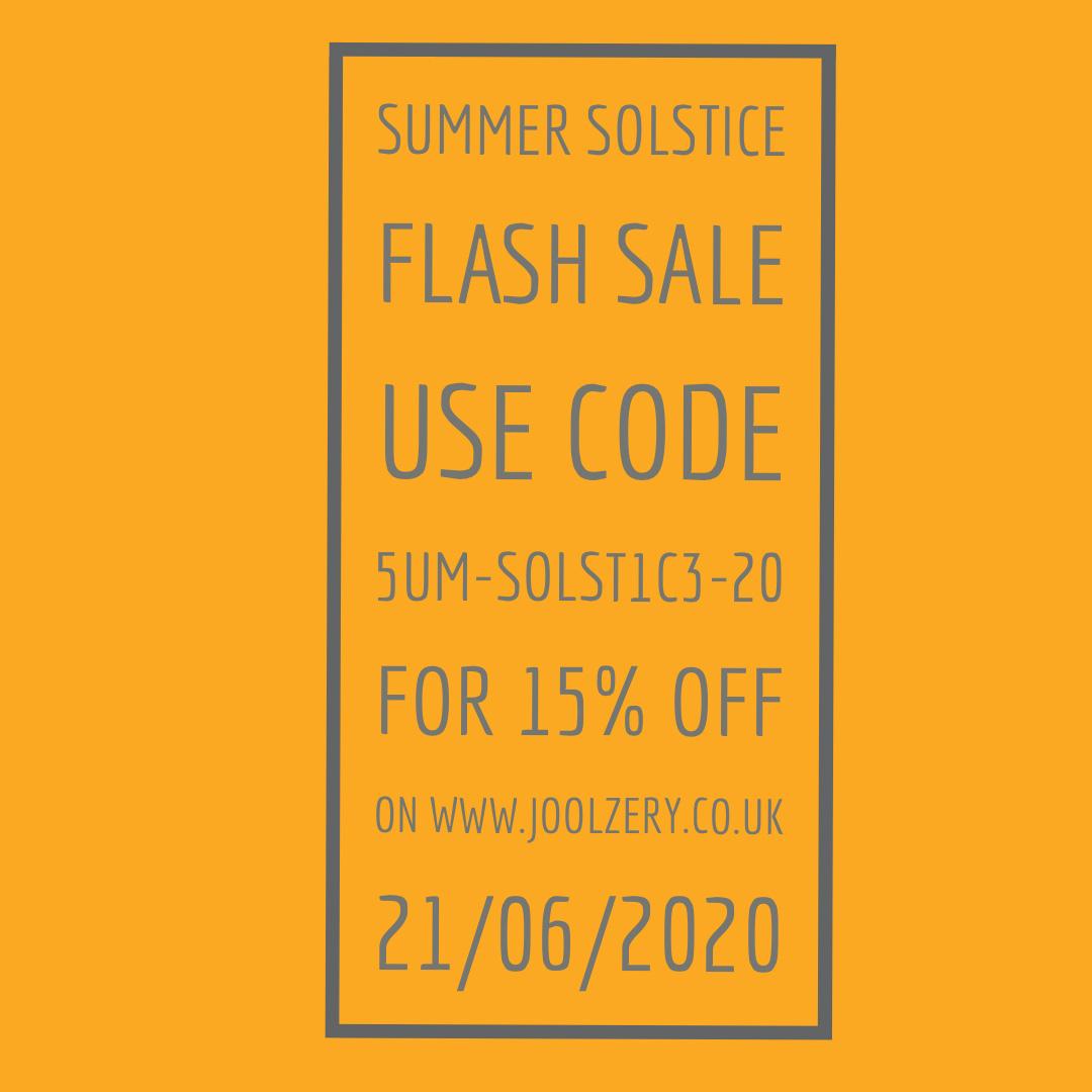 Joolzery 2020 Summer Solstice Flash Sale Voucher