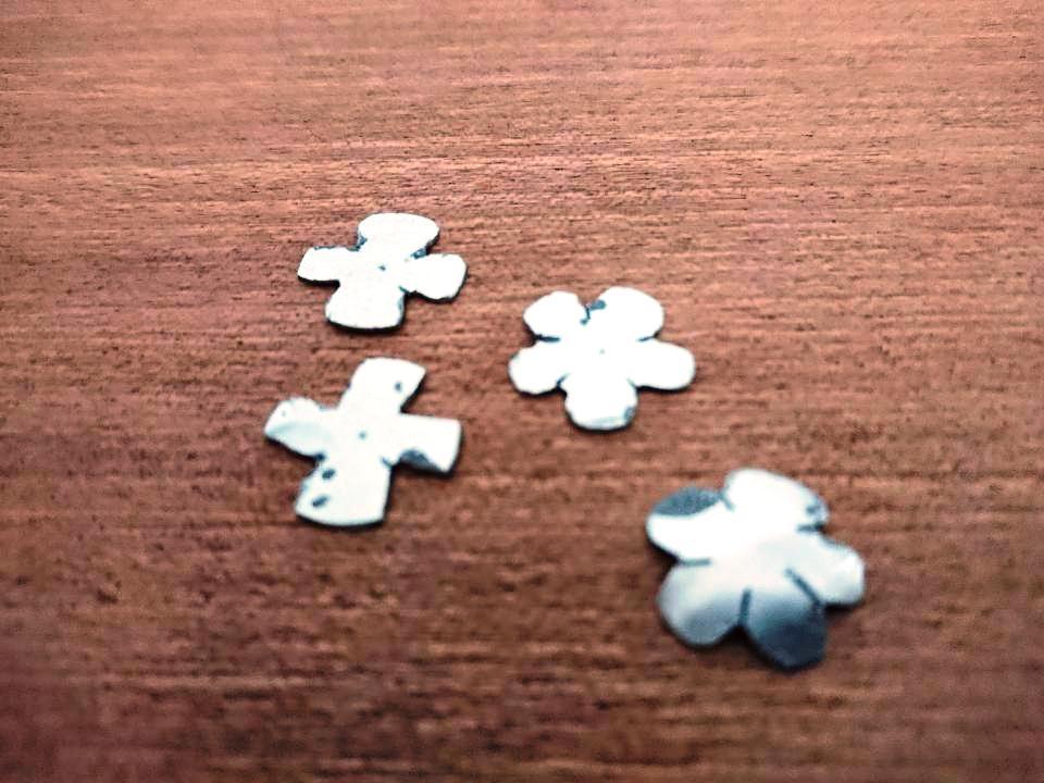 Handmade Aluminium Flower beads