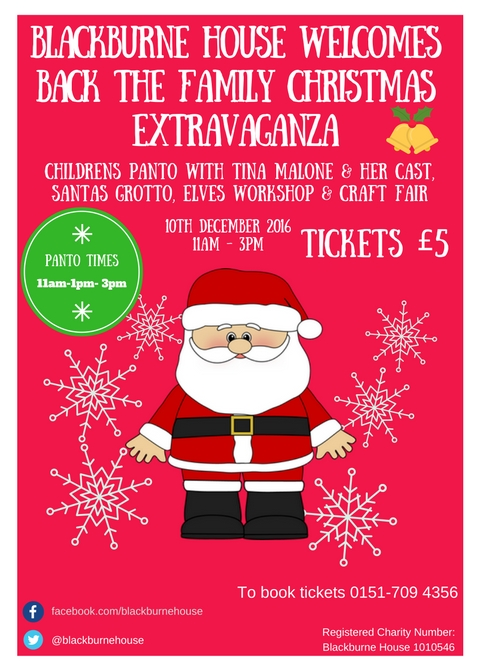 Blackburne House Family Christmas Extravaganza 2016 Flyer