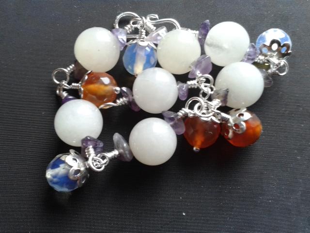 Carnelian Jade Quartz Amethyst Bracelet