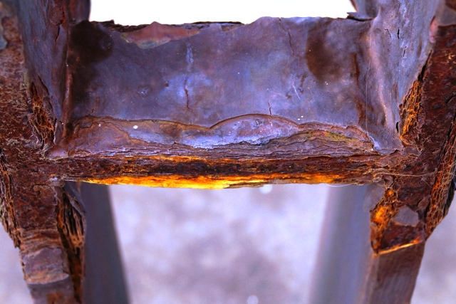 Rusted railings