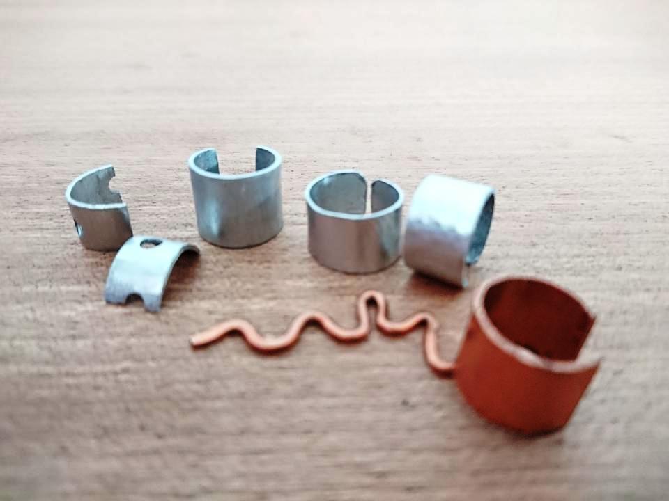 Handmade Aluminium and Copper Ear Cuffs