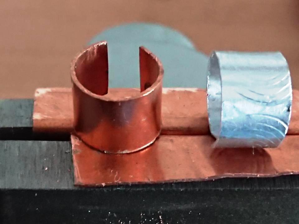 Handmade Copper and Textured Ear Cuffs