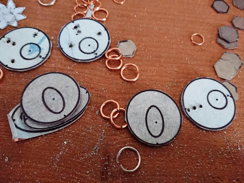 Handmade Circle and Oval Earrings start