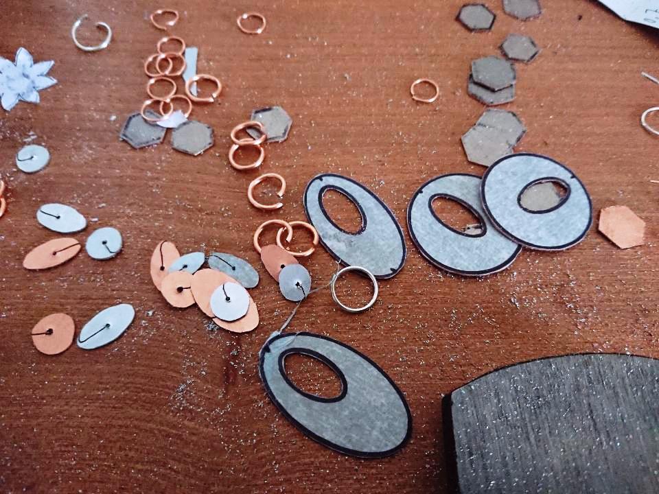 Handmade Metal Earrings work in progress