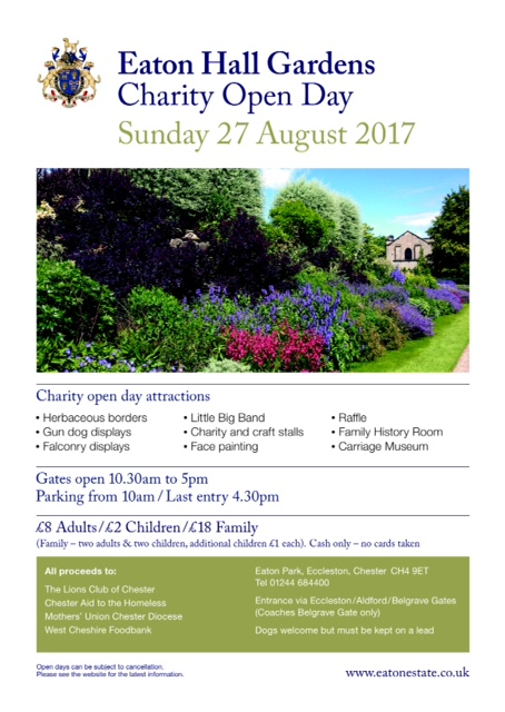 Eaton Hall Gardens Open Day 27th August 2017