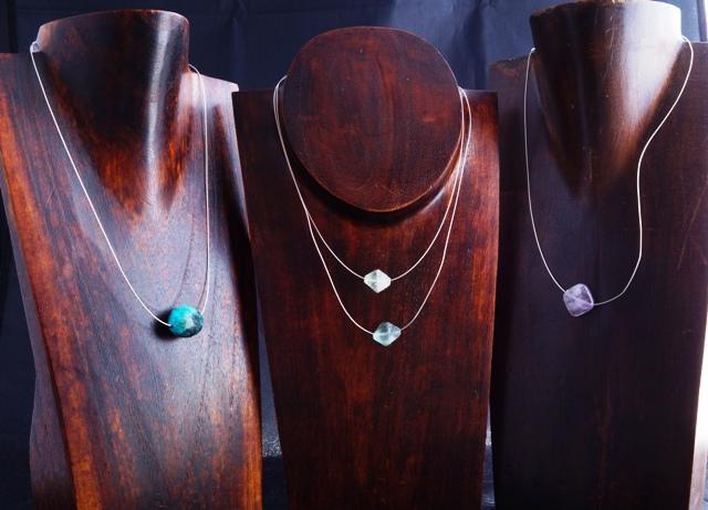Float Sterling Silver Gemstone Pendants