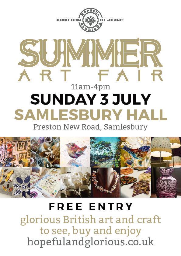 Hopeful & Glorious - Summer Crafts Fair 2016 Samlesbury Hall