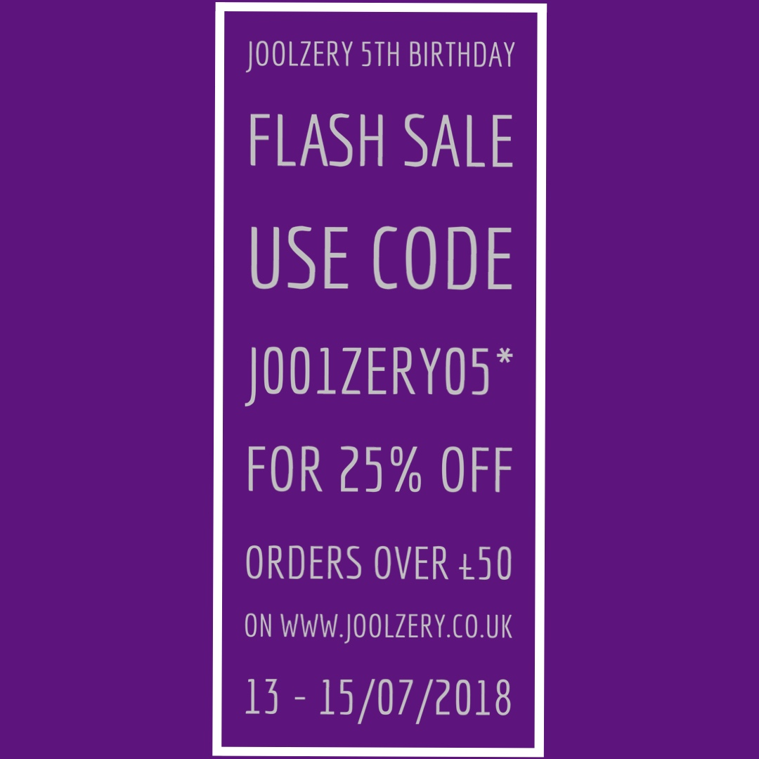 Joolzery 5th Birthday Weekend Flash Sales Voucher code