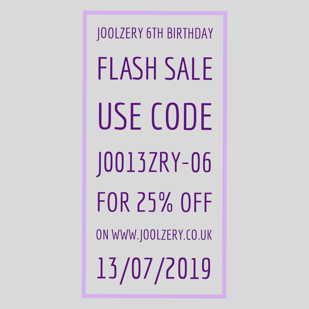 Joolzery 6th Birthday Flash Sale Voucher code