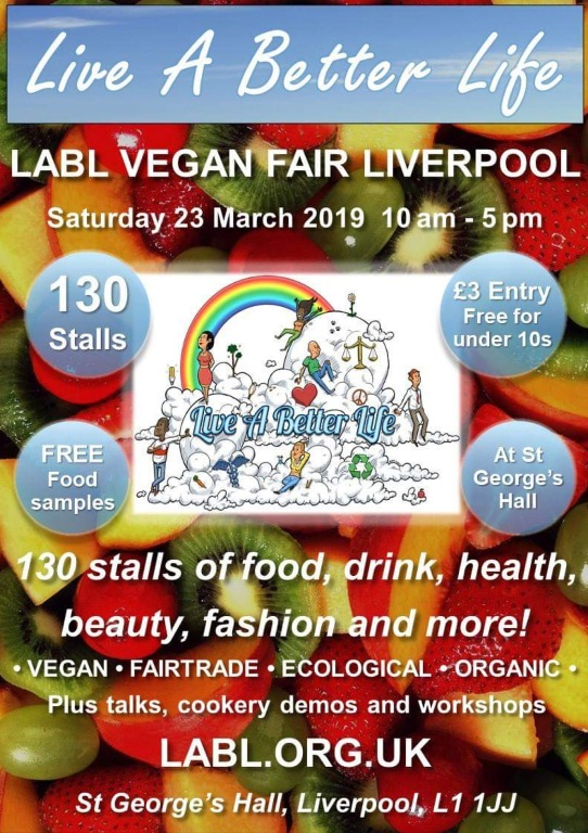 Live A Better Life Vegan Fair Flyer