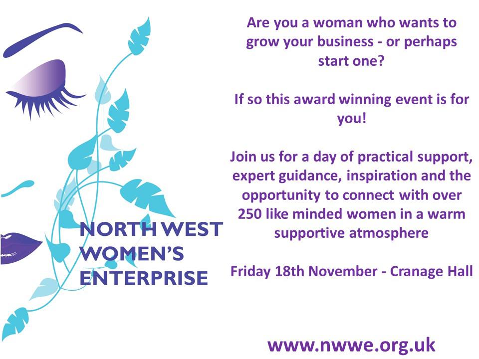North West Womens Enterprise 2016 Conference Flyer