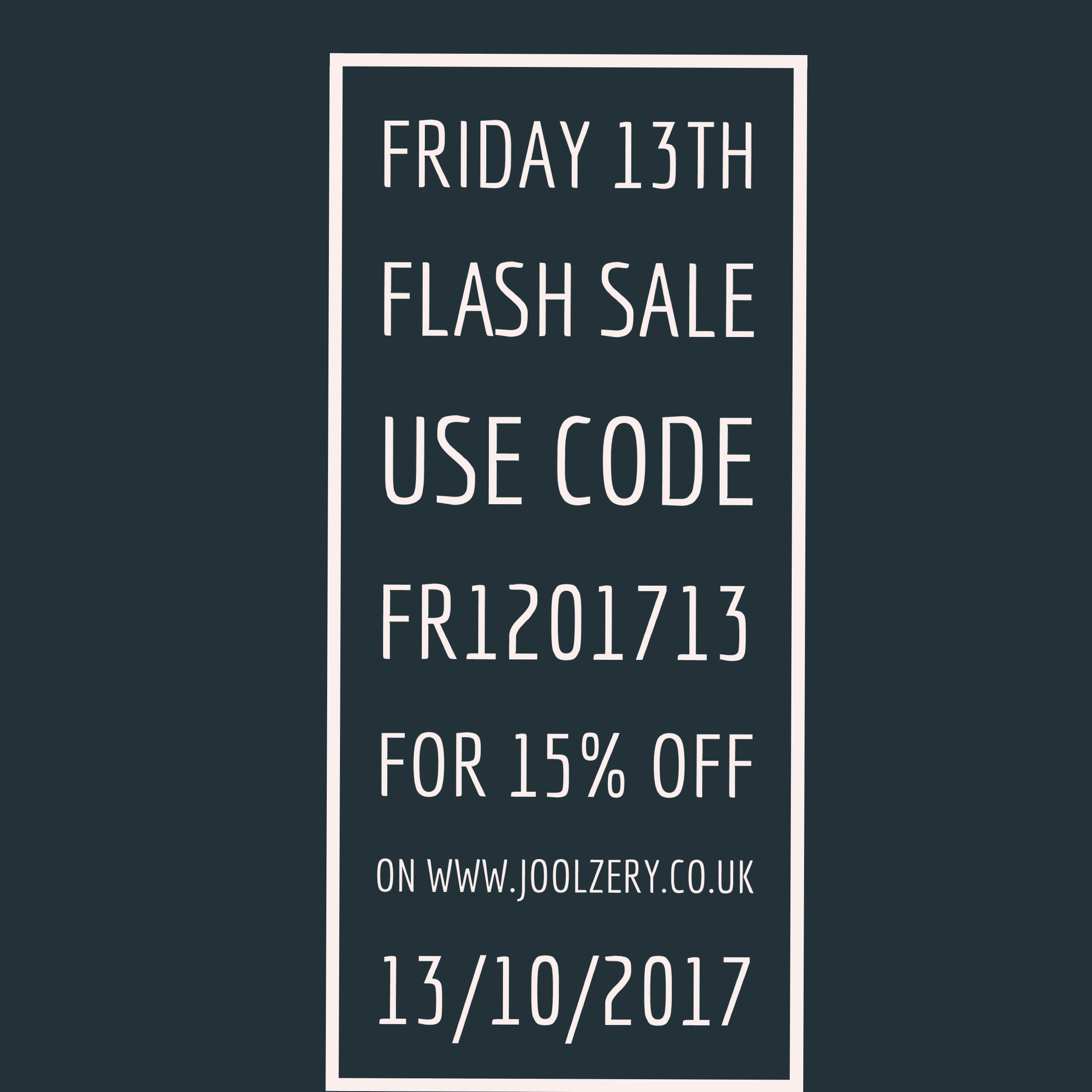 Joolzery Friday the 13th Flash Sale Code