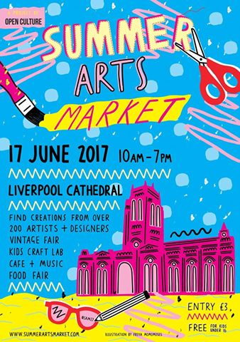 The Summer Arts Market at Liverpool Cathedral