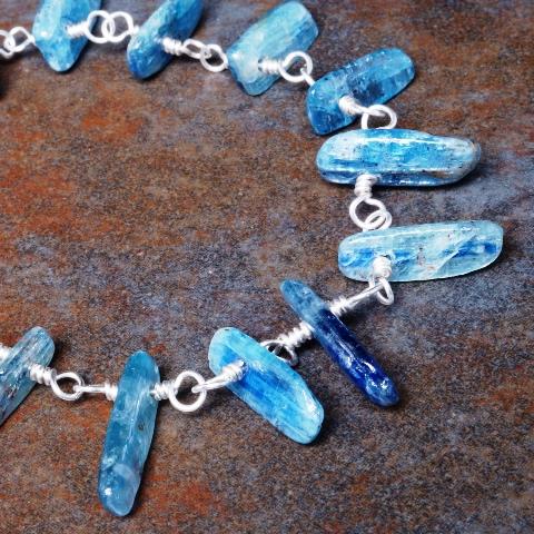 Handmade Sterling Silver Kyanite Bracelet