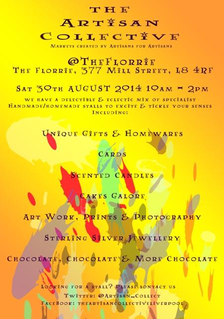 The Florrie August Artisan Market Flyer
