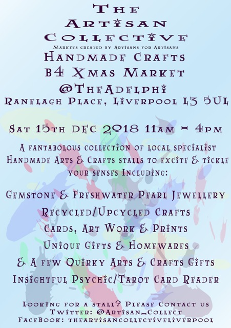 The Artisan Collective - Winter Handmade Crafts Market @TheAdelphi