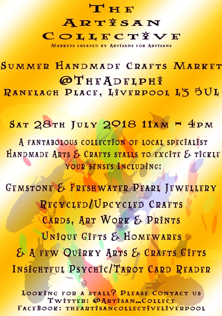 The Artisan Collective - Summer Handmade Crafts Market @TheAdelphi