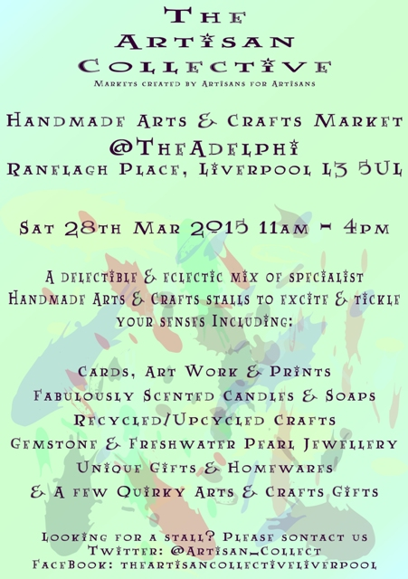 The Artisan Collective March Handmade Arts & Crafts Market Flyer