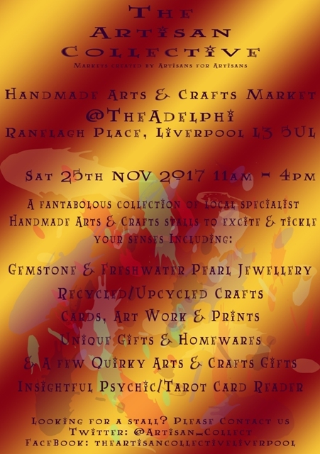 The Artisan Collective - November Handmade Arts & Crafts Market @TheAdelphi
