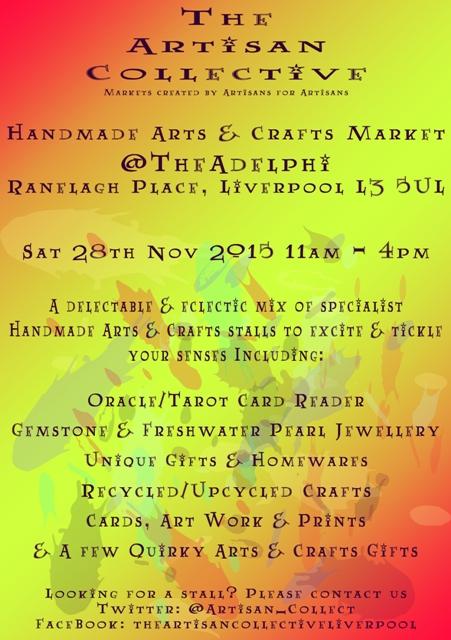 The Artisan Collective - November Handmade Arts & Crafts Market @TheAdelphi