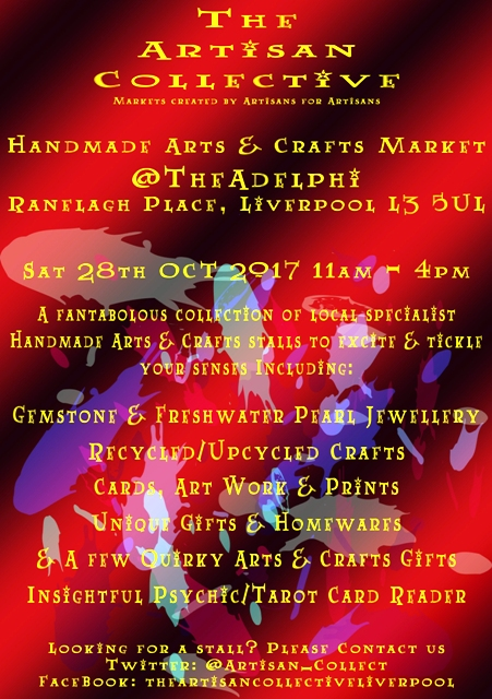 The Artisan Collective - October Handmade Arts & Crafts Market @TheAdelphi