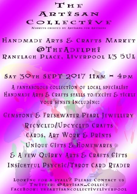 The Artisan Collective - September Handmade Arts & Crafts Market @TheAdelphi
