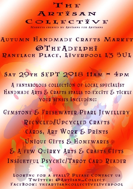 The Artisan Collective - Autumn Handmade Crafts Market @TheAdelphi