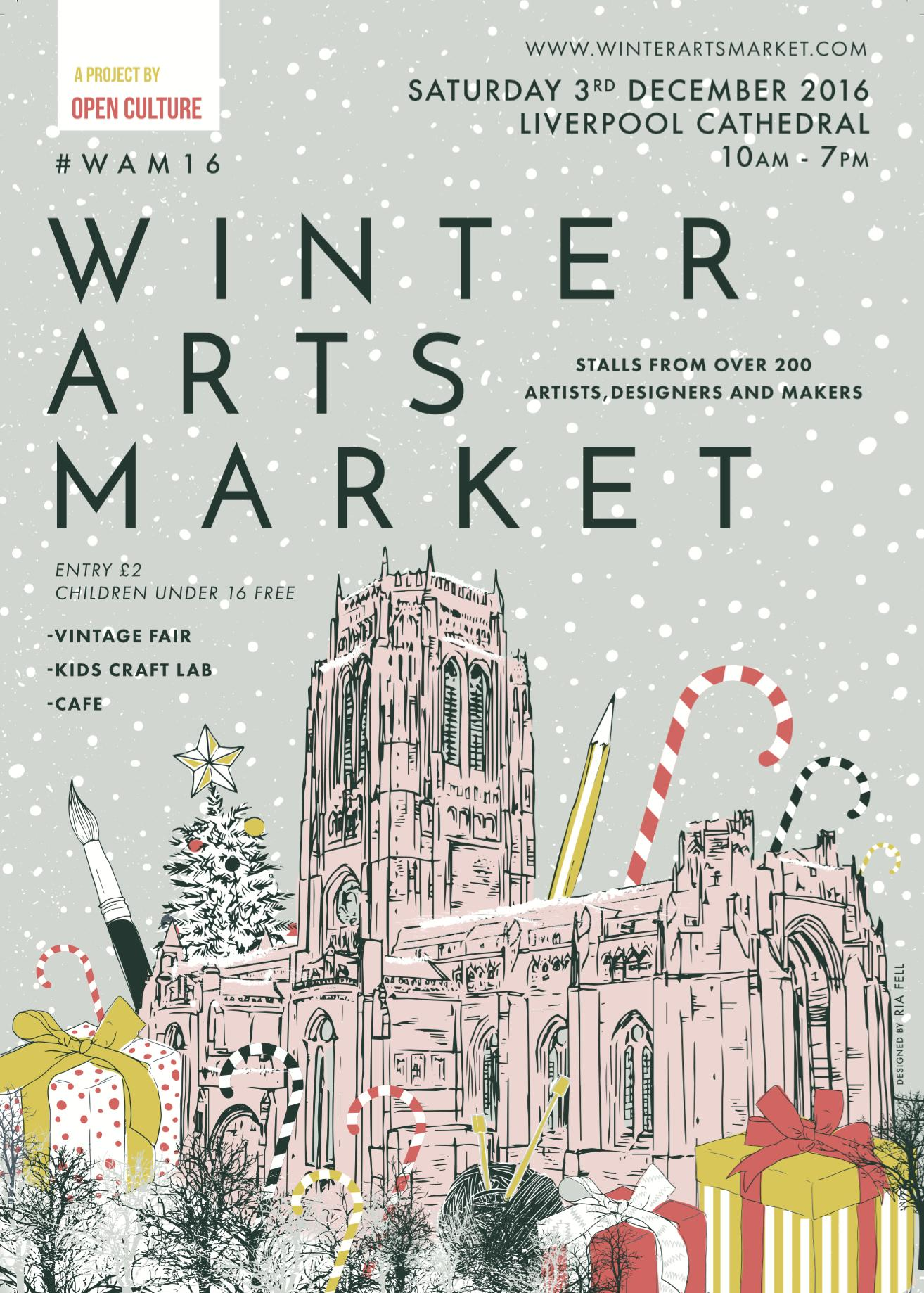 Open Culture Winter Arts Market 2016 Flyer