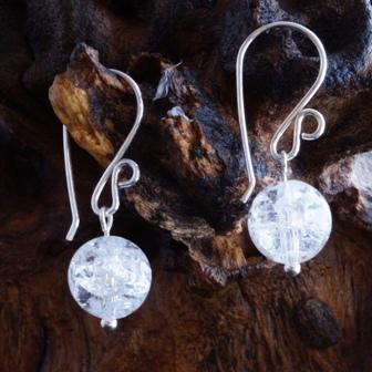Rock Quartz Sterling Silver Earrings