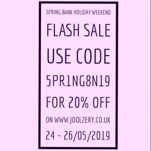 2019 Spring Bank Holiday Flash Sale Voucher Code