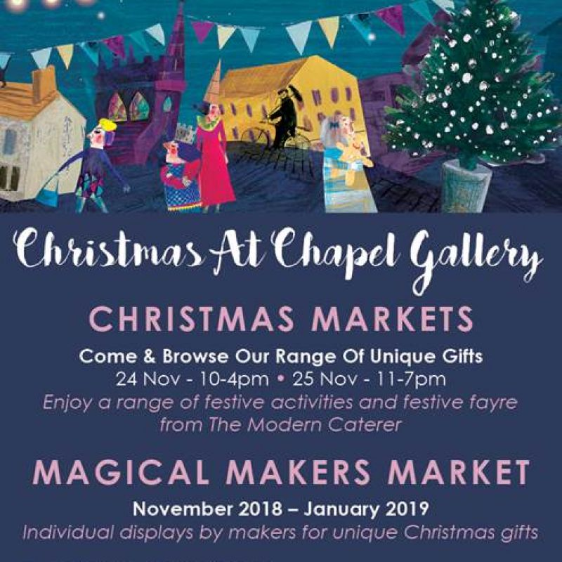 2018 Chapel Gallery Christmas market flyer
