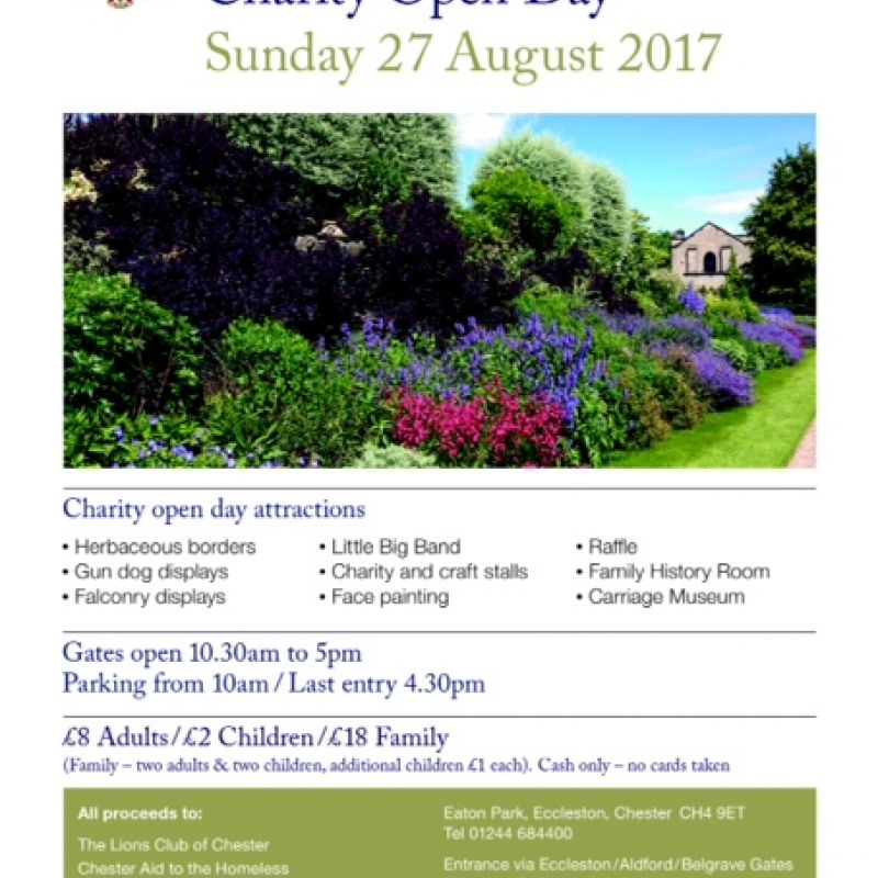 Eaton Hall Charity Open Day Flyer