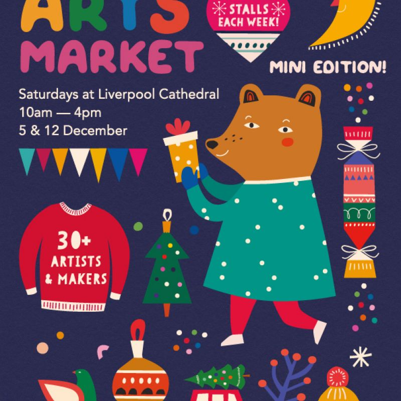 Winter Arts Market at Liverpool Cathedral on Saturday the 5th December 2020 10am - 4pm.