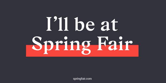 Spring Fair 2019 NEC Birmingham Hall 19-20 stand 20M02